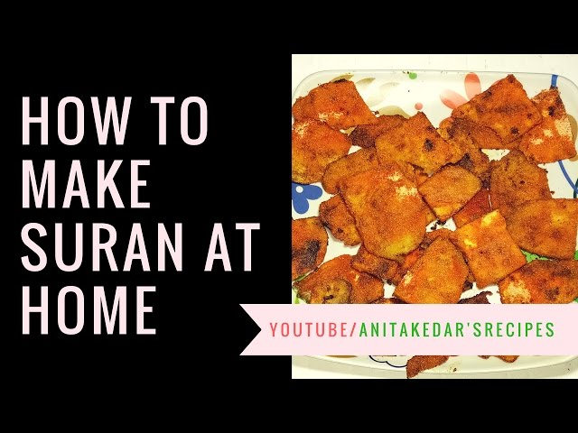 खमंग सुरणाचे काप  |  Suran Chips  |  Recipe By Anita Kedar