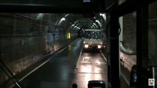 立山トンネルトロリーバス 前面展望 Tateyama Tunnel Trolleybus (2015.7)