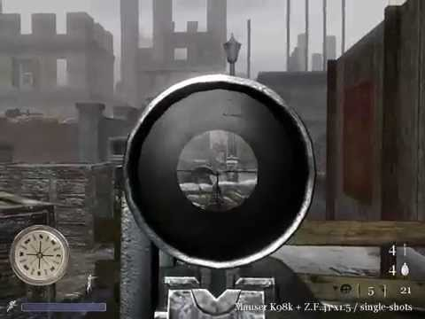 CoD2 B2F Red Square Massacre gameplay