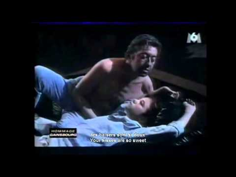 Serge Gainsbourg and Charlotte Gainsbourg   Lemon Incest with english lyrics on screen
