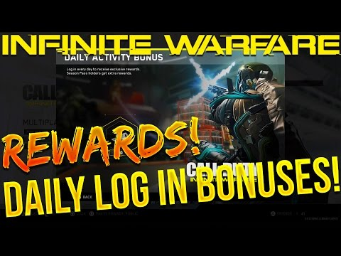 INFINITE WARFARE DAILY LOG IN BONUS REWARDS! - Amazing Rewards For Daily Log In!