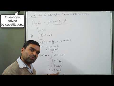 Integration - Indefinite Integral By Substitution In Hindi(Lecture 3)
