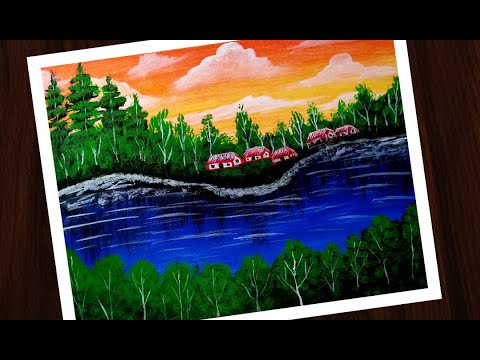 Teach view Daily art / scenery painting | very easy & simple painting for beginners