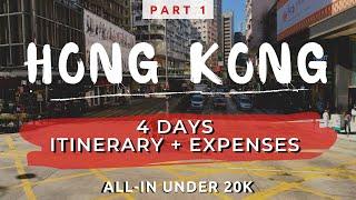 Hong Kong Travel Vlog with Itinerary and Budget | Part 1
