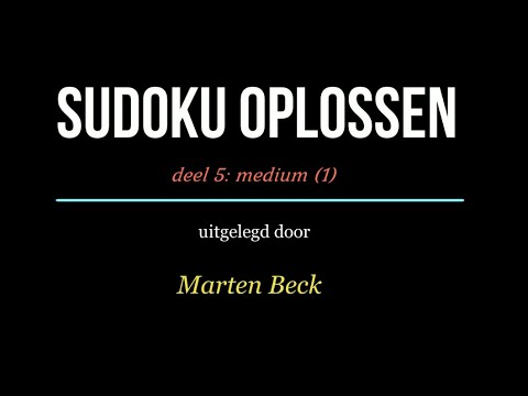 Sudoku oplossen deel 05: Medium (1)