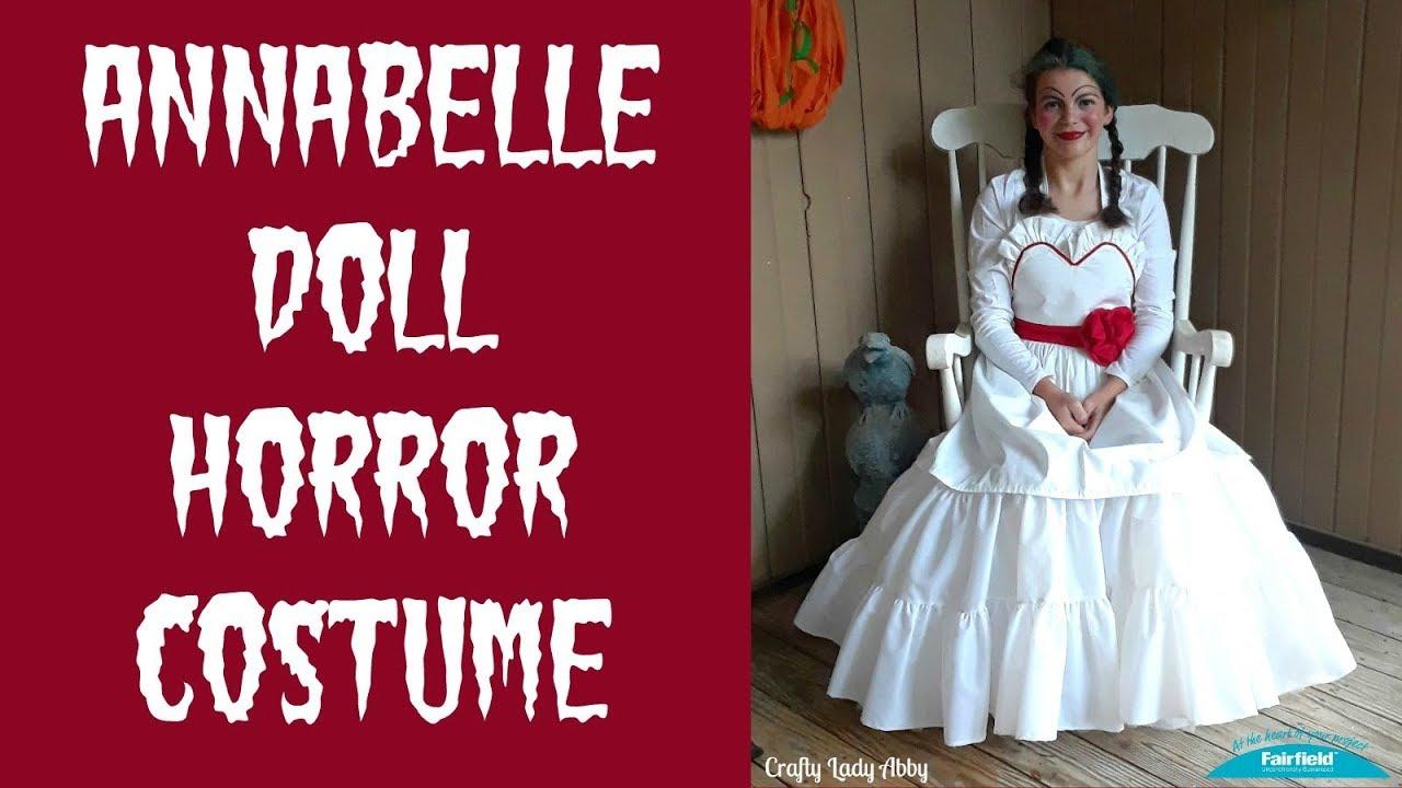annabelle doll sweetheart apron halloween costume