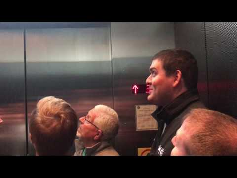 Riding the elevator to the Willis Tower Skydeck in Chicago