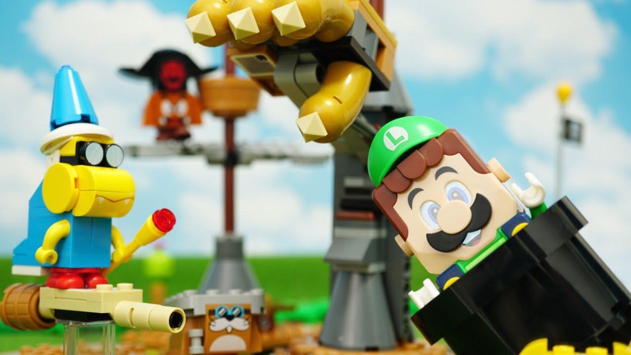 LEGO Super Mario stopmotion anime!「Bowser's Airship Expansion Set Part1」「クッパの飛行船、前編」