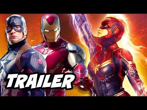 Captain Marvel Trailer - Avengers Endgame and Iron Man Scene Easter Egg Breakdown
