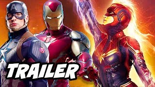 Captain Marvel Trailer - Avengers Endgame And Iron Man Scene Easter Egg Breakdow