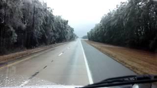 Trees falling on I95 SC 02/12/2014