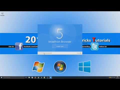 New Maxthon 5 Beta WebBrowser For Windows Download & Install Tutorial