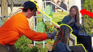 Cutting Girls Hair Prank!