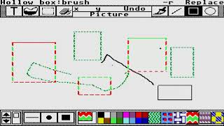 ATARI ST paintworks PAINT WORKS activision usa PAINT DRAW PROGRAM
