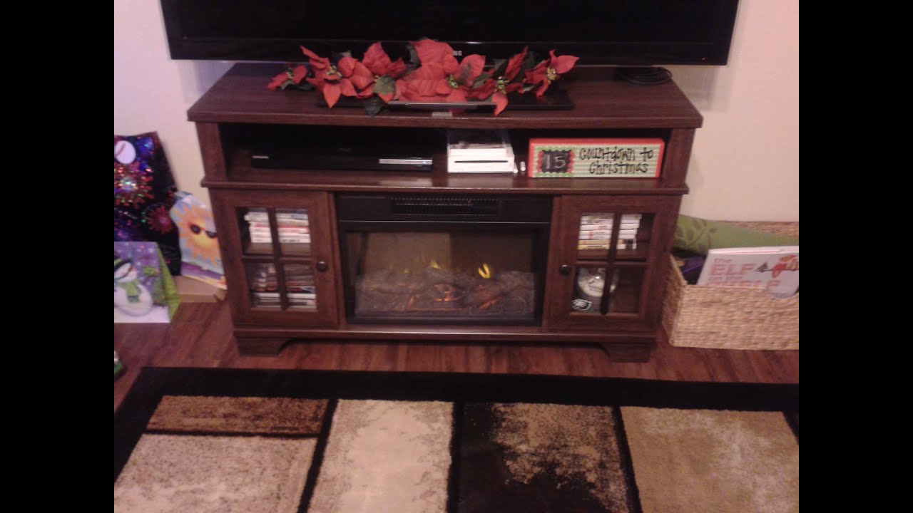Master Flame Harris Electric Fire Place - YouTube