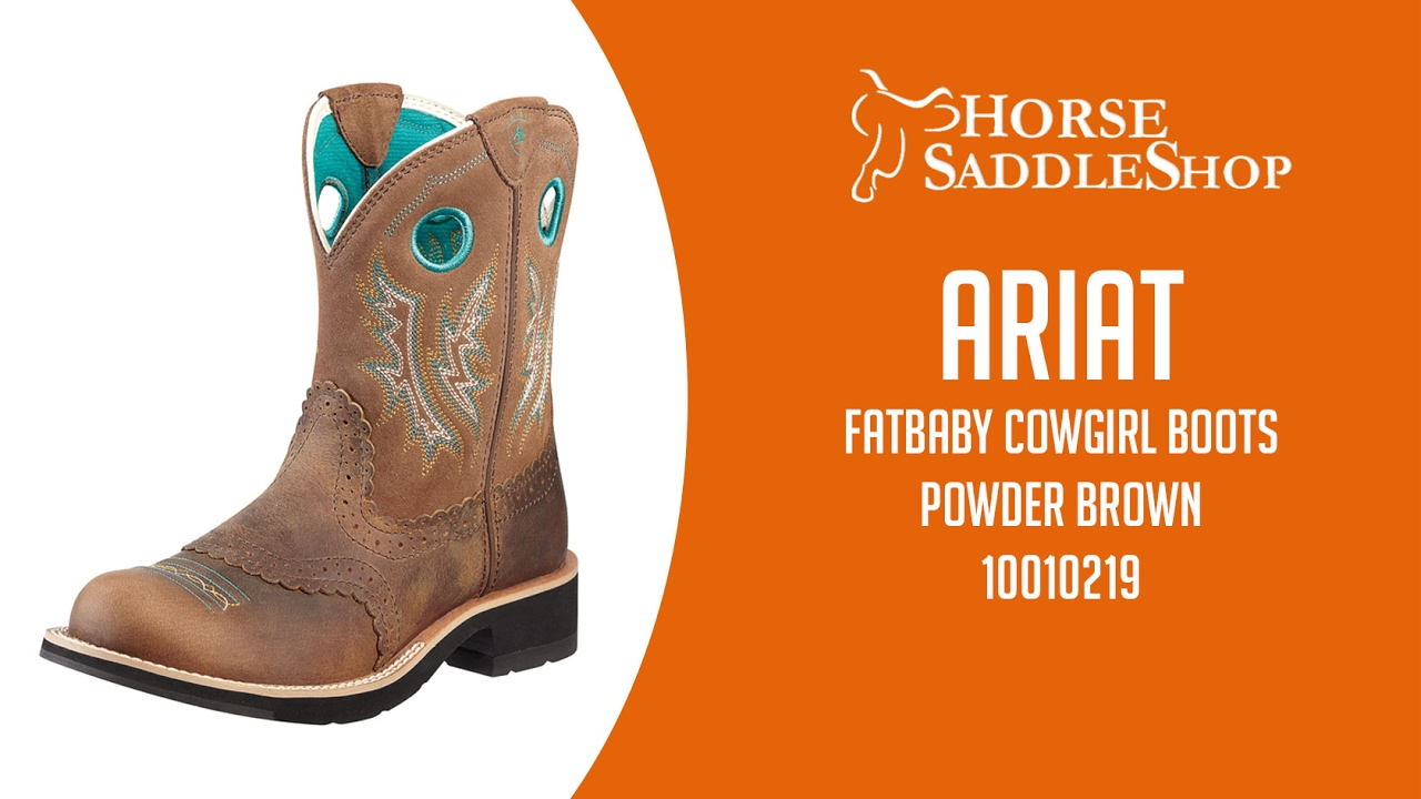 Ariat Women39s Fatbaby Cowgirl Boots Powder Brown 10010219
