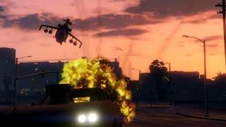 Runner Vs. Attack Helicopter     GTA V Online