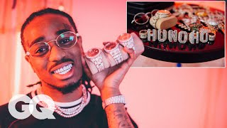 offset migos flexing his $70k diamond flossed gucci belt