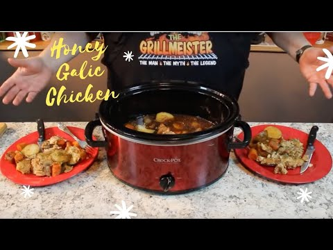 Crock Pot Honey Garlic Chicken!  (5 Hours On High)