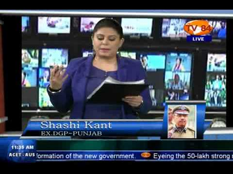 TV84 News 11 20 2013 Pt.1 Interview with Shashi Kant EX. DGP PUNJAB