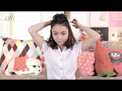 ทรงผมรับปริญญาเริ่ดๆ สำหรับสาวหน้ากลมโดยเฉพาะ โดย Jane Makeup - All Things Hair
