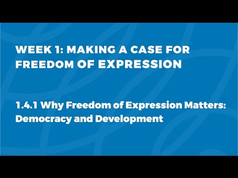 MOOC FOE1x   1.4.1 Democracy and Development   Making a Case for Freedom of Expression