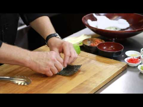 How to Moisten the Nori When Making Sushi : Sushi Techniques & Recipes