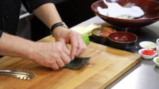How to Moisten the Nori When Making Sushi : Sushi Techniques & Recipes