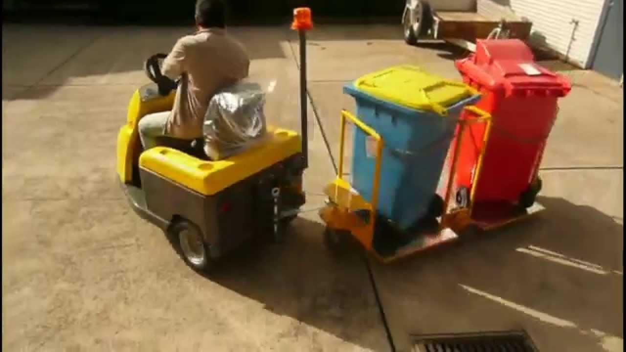 Spacepac Dec Bull 2 Towing Bin Tugger Train Trolley Youtube