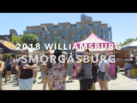What's at NYC Smorgasburg 2018 Food Vlog [4k]