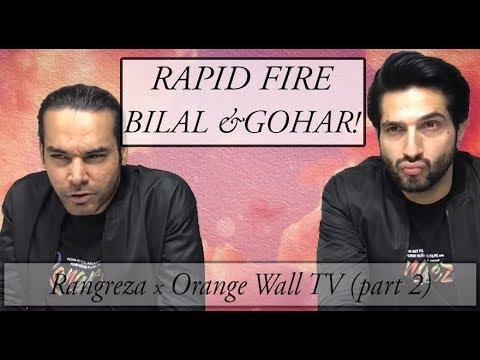 Rapid Fire with Bilal Ashraf & Gohar Rasheed on Urwa, Shaan & more 🔥 ⭐ | Rangreza | Orange Wall TV