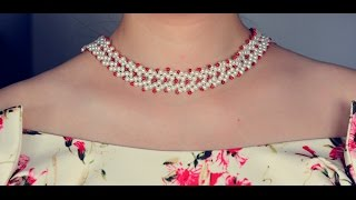 Pandahall Tutorial on How to Make Simple Pearl Beads Choker Necklace for Girls