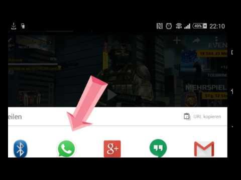Videos über whatsapp von YouTube versenden