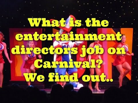 Meet the new Entertainment Director for Carnival