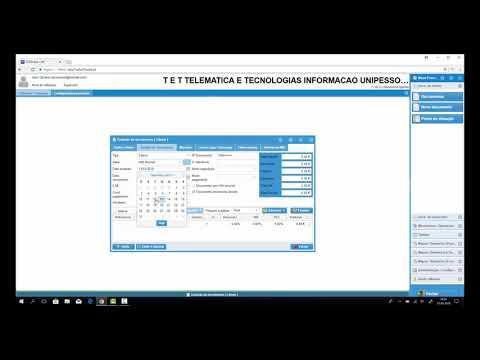 T&T Software - Como alterar data de emissão no programa Faturação Online