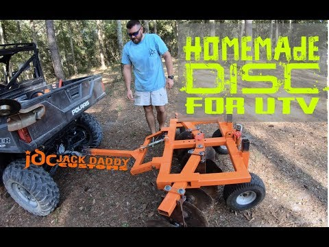 Homemade DIY Disc For UTV Or 4 Wheeler ATV.  Restored Old Farm Equipment Gets New Life Behind Ranger