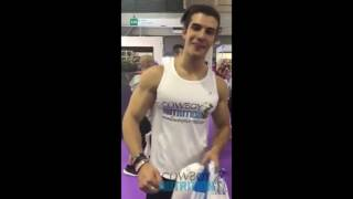 Miguel Lozano - Young Muscle Athlete at Arnold Classic Barcelona 2016 Fitness Adonis