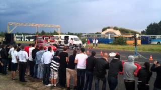 Ferrari F430 vs dragster at OVB TopPower, Tököl, Hungary