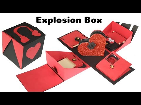 Handmade Explosion Box for valentines day | Valentines Day Gift Idea for boyfriend