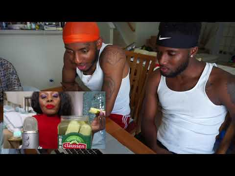 Pickle ASMR Eating Sounds BIG Crunch Intense (Reaction)