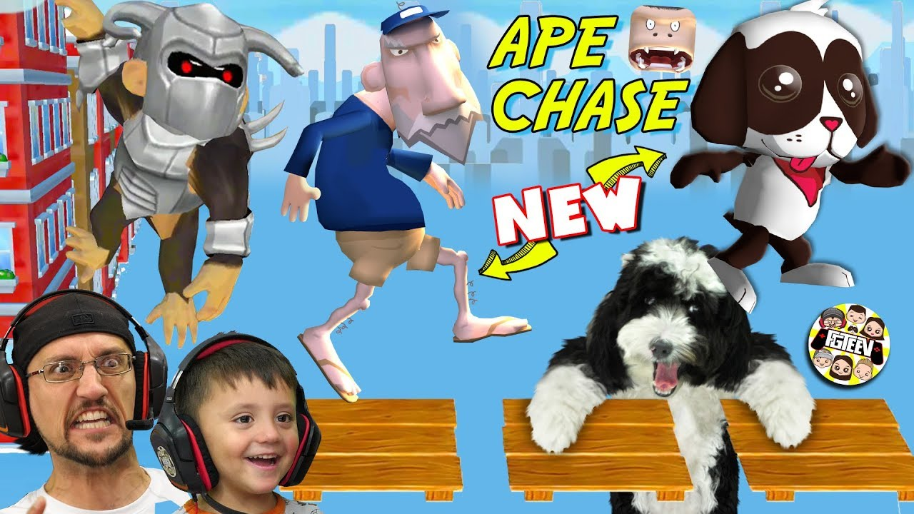 THERES AN APE CHASING MY DOG OREO & MAILMAN POSTAL JENKINS! (NEW FGTeeV Game News)