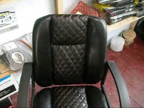 Ещё один вид наших услуг.Переделка офисного кресла. - YouTube