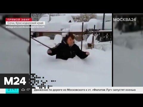 Небывалый снегопад в Сочи. Что о нем говорят местные жители и туристы? - Москва 24
