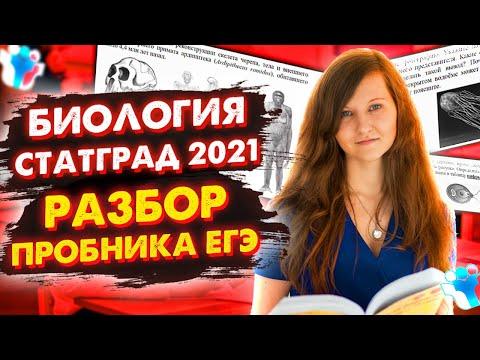 РАЗБОР РЕАЛЬНОГО ВАРИАНТА ЕГЭ 2021 ПО БИОЛОГИИ СТАТГРАД
