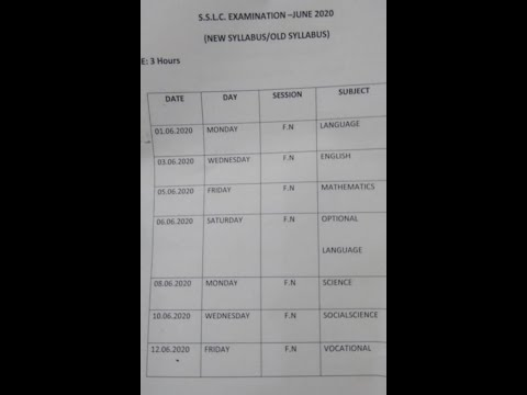 Tamil Nadu SSLC (Class 10) Exam Begins On June 1
