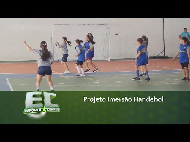 Projeto Imersão Handebol movimenta crianças entre 07 e 12 anos