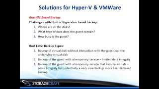 Virtual Backup and Recovery for VMware & Hyper-V Environments