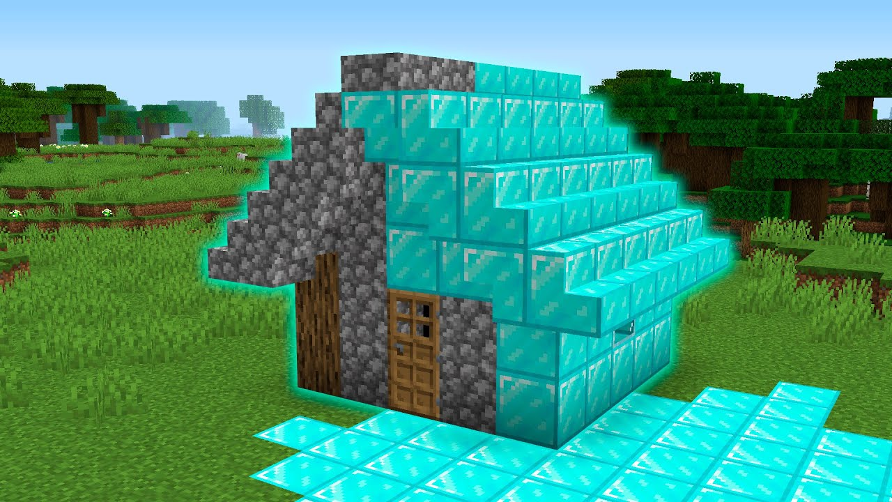 TRANSFORM ANY HOUSE IN TO DIAMOND Minecraft NOOB vs PRO battle