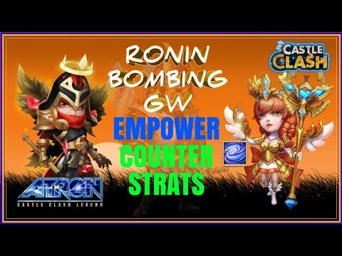 RONIN BOMBING WITH MIKE + ATHENE - MORE PRACTICE AGAINST EMPOWERED HEROES - CASTLE CLASH