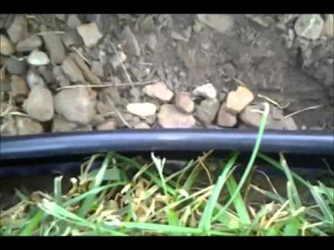 installing plastic landscape edging diy youtube - Plastic Garden Edging